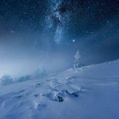 Frozen World at   Ylläs Finland byMikko Lagerstedt (map in...
