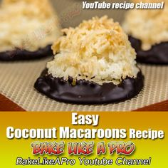 Easy Coconut Macaroons Recipe CLICK the BIG picture to watch my step-by-step VIDEO RECIPE !