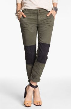 Free People Knee Patch Skinny Chinos