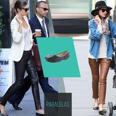 Para calças que imitam couro, nada melhor do que a clássica sapatilha, que não carrega o look e fica lindo!   #love #instagood #happy #beautifuls #girl #smile #fashion #summer #moda #estilo #instamood #instalove #best #sapatos #sapato