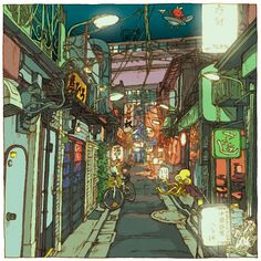 Tokyo 100 Views is a project designed by the Japanese illustratorShinji Tsuchimochi, who invites us to discover the modern Tokyo through 100 beautiful illustr