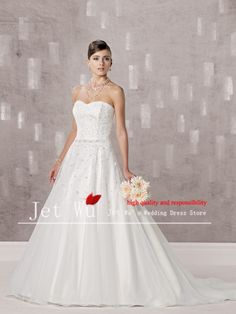 >> Click to Buy << 2017 New Promotion Wedding Dress Vestidos De Noiva Quality A-line Sweetheart Appliqued Wedding Dress China  Jj0276  #Affiliate