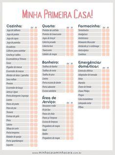 Lista de Chá de Casa Nova – As 30 Ideias Mais Completas para Imprimir! Studio Loft, Marketing Trends, Open House, My House, Planners, 3d Home, Studio Mcgee, Home Alone, Home Hacks