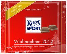 RITTER SPORT Fake Schokolade Weihnachten 2012