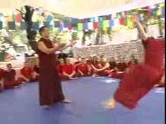 Lama Dondrup Dorje activating students chi to clear blockages in channels during the 2006 Pathgate Summer Retreat. Students own energy then propels them to move. See more at www.pathgate.org