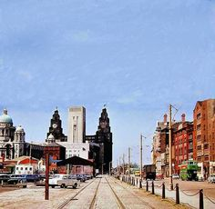 1966 Liverpool Town, Liverpool Docks, Liverpool History, Old Pictures, Old Photos, New York Skyline, The Past, England, Street View