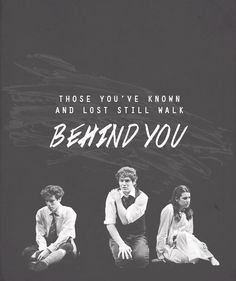 A beautiful quote from Spring Awakening. Certainly one to think about.