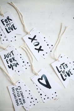 10 DIY & Printable Gift Tags | www.dawnnicoledesigns.com
