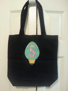 Christmas monogram bag
