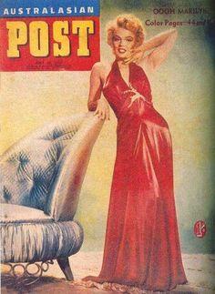 Australasian Post - July 30th 1953, Australian magazine. Front cover photo of Marilyn Monroe by Bruno Bernard, 1952.