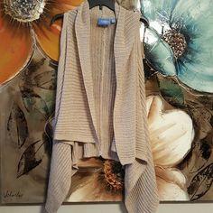 2xHP? Simply Vera sleeveless sweater NWOT Beautiful knit sweater, bought without belt (pic 4)  ramie  acrylic nylon Simply Vera Vera Wang Sweaters Shrugs & Ponchos
