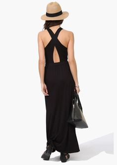Cross Maxi Dress