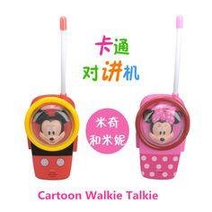 2016 vendita Calda nuovo Giocattolo Del Fumetto di Comunicazione Walkie Talkie per I Bambini del Regalo Durevole Portatile Zona Aperta A due Vie Radio Divertimento