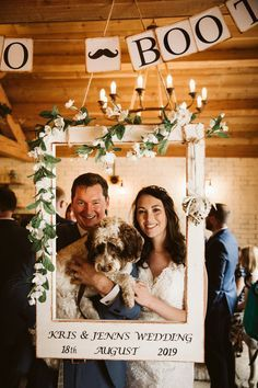 WWW readers Jenn and Kris are joining us today with their gorgeous Eden Barn wedding in Cumbria held on the August Think all the fairy lights, oodles Party Photo Frame, Wedding Photo Booth Props, Photo Frame Prop, Rustic Wedding Photos, Diy Wedding, Bridal Shower Photos, Wedding Posters, Wedding Frames, Photo Booths