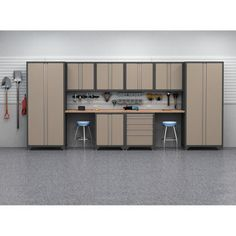 NewAge Products Inc. 10 Pc. Heavy Duty Workshop/ Garage Cabinetry In