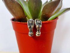 Amazing Men Solid Silver Mermaid Earrings With Oxidized Finish & Ear Back,Piercing Earring,Mermaid,Men Earring,Hoop Earring,Gifts For Him by Supsilver on Etsy