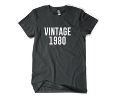 Vintage 1980-35th Birthday Shirt Gift for Him by SuperCoolTShirts