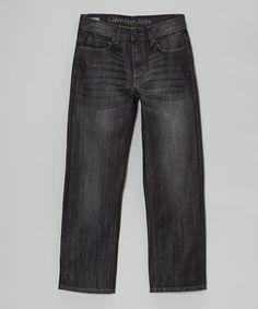 Look at this #zulilyfind! Darkness Rebel Slim Straight-Leg Jeans - Boys by Calvin Klein Jeans #zulilyfinds