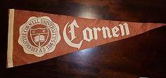 CORNELL UNIVERSITY PENNANT, The University of Cornell 1865, 1930-40s Pennant