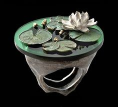 "Luisa Bruni, ""Cra...cra"", silver, bronze, epoxy"