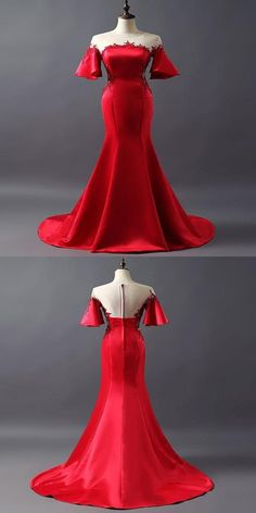 Unique Prom Dresses, Beautiful Dresses, Bridesmaid Dresses, Formal Dresses, Princess Frocks, Red Cocktail Dress, Fall Fashion Outfits, Women's Fashion, Chic Dress