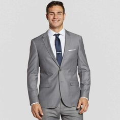 Subtle and sleek. Our Textured Gray collection was designed with spring in mind. Goes great with black or brown shoes. Our soft shade of grey sets the perfect backdrop for any color story. Complete your look with our textured gray vest & flat front pants. Grey Vest, Gray Jacket, Suit Jacket, Tuxedo Suit, Tuxedo For Men, Blue Groomsmen Suits, Light Grey Suits, Charcoal Suit, Navy Blue Suit