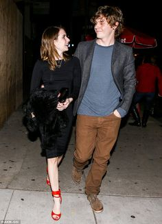 Date night: Emma Roberts and Evan Peters