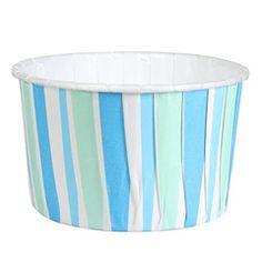 Culpitt Blue Stripe Baking Cups 24pcs