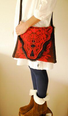 knitted shoulder bag by hogenbirkknitwear on Etsy