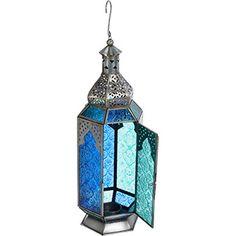 Green & Blue Moroccan Inspired Lantern