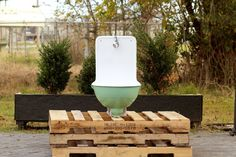 1920s Antique Refinished Rounded French Lavabo by readytore