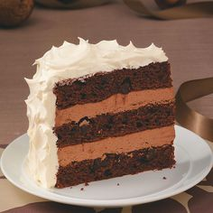 """Susan's Favorite Mocha Cake Recipe -""""My family insists on this cake for our Christmas dinner. They refer it to as 'the best cake in the world.' The flavors are simply wonderful."""" – Susan Bazan, Sequim, Washington"""