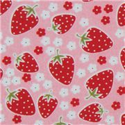 cute pink Michael Miller fabric Strawberry Florets
