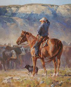 """Kicking Up Dust"" by Jason Rich (Cowboy Artist)"