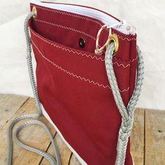 Large Corsica Crossbody Bag, Recycled sail bag, Upcycled bag, Cross body purse, sail bag, sailcloth bag, eco bag, vegan bag