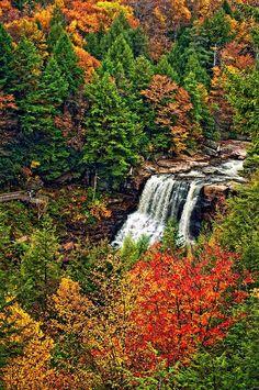 Blackwater Falls, West Virginia.