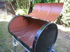 How to Build Your Own BBQ grilll from a food grade barrel - like a honey barrel  My Grill!