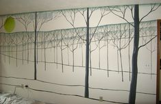 Painted Trees - Painted Tree Mural