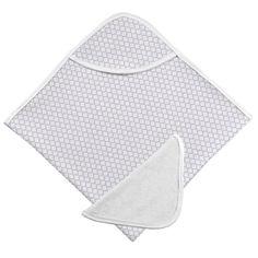 Kushies Hooded Bath Towel / Face Cloth Lilac Ornament