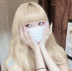Pretty Hairstyles, Girl Hairstyles, Pretty Hair Color, Blonde With Pink, Blonde Hair Girl, Cute Korean Boys, Ulzzang Korean Girl, Aesthetic Hair, Jennie Blackpink