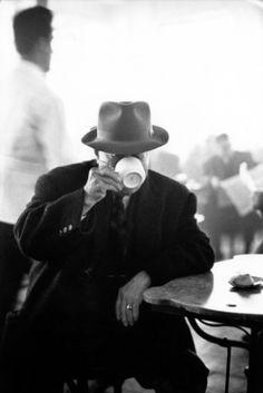 "howtoseewithoutacamera: "" by  Elliott Erwitt Cafe, Kalamata, Greece, 1966 """
