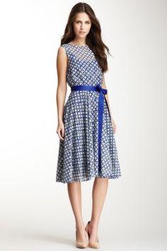 HauteLook | Starting At $50: Isaac Mizrahi Sleeveless Lace Print Sash Dress