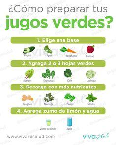 Healthy Juice Recipes, Healthy Juices, Healthy Drinks, Healthy Tips, Detox Verde, Helathy Food, Comida Diy, Healthy Recepies, Bodybuilding Diet