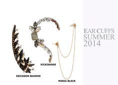 Fashion Women Summer 2014 #summer #2014 #women #fashion #accessories #earcuffs #ear #cuffs #ericksonbeamon #erickson #beamon #vickisarge #mariablack #maria #black