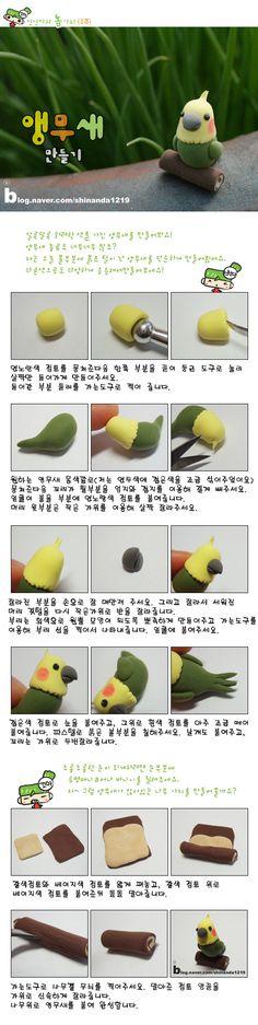 clay parakeet.