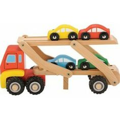 New Classic Toys autotransport wagen. inclusief 4 auto's