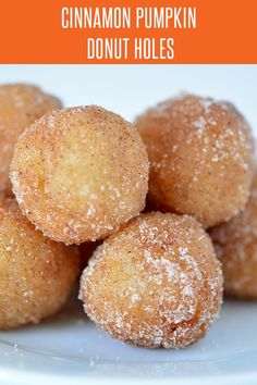 Pumpkin Spice Doughnut Holes - Pumpkin Recipes are plentiful, but this dessert recipe is quick and easy! More holiday recipes at FoodieandW. Pumpkin Doughnut Recipe, Donut Hole Recipe, Pumpkin Recipes, Fall Recipes, Holiday Recipes, Caramel Recipes, Donut Recipes, Best Dessert Recipes, Pastry Recipes