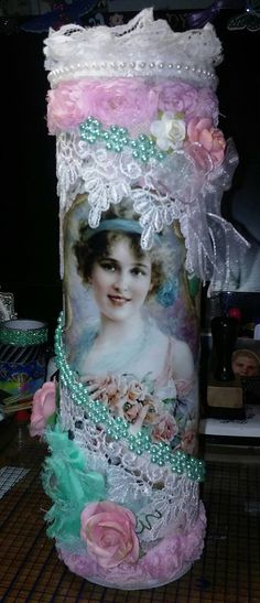 Gorgeous Altered Pringle's can by Cindy Stanzione