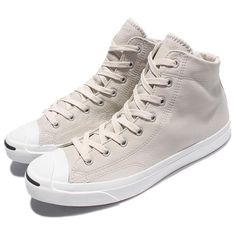 e05a33553aba Converse Jack Purcell Mid Buff White Leather Sneakers SZ 10.5 M 155719C NEW   150  Converse