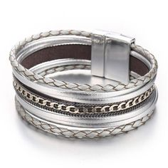 Fashionable Thick Antique Silver Metal Filigree Design Fold Over Bangle Bracelet Fashion Jewelry for Women Man